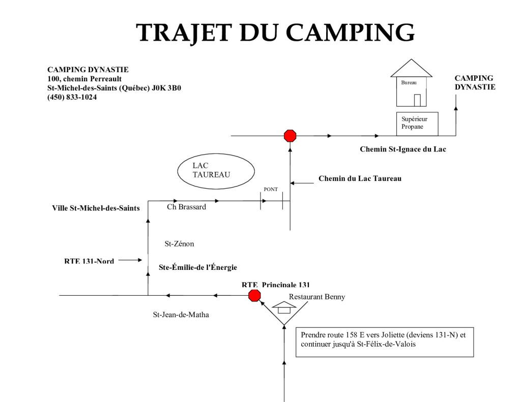 TRAJET Camping Dynastie